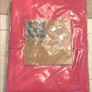 "Pottery Barn Teen 96"" pink sail cloth drape"